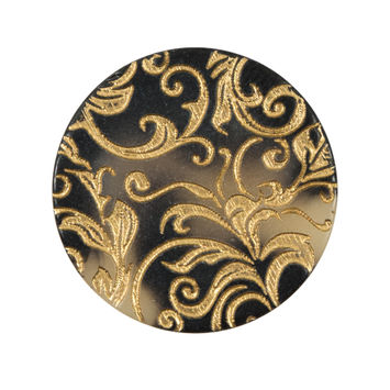 Italian Gold Etched Horn Button - 44L/28mm