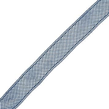 Navy European Cotton Crochet Trim - 1.5