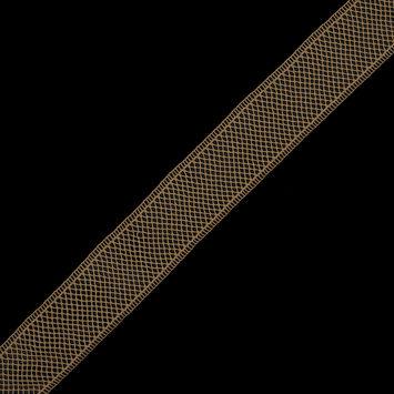 Gold European Cotton Crochet Trim - 1.5