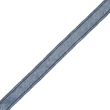 Navy European Cotton Crochet Trim - 1