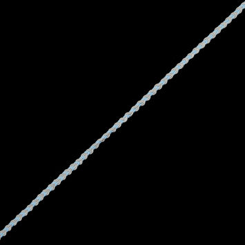 Light Blue and White Two-Tone Braided Trim - 0.25