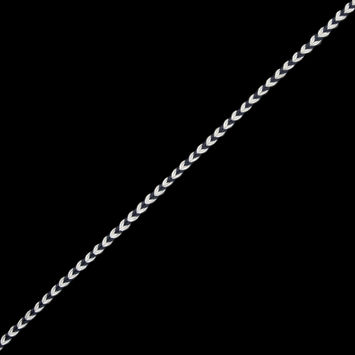 Charcoal and White Two-Tone Braided Trim - 0.25