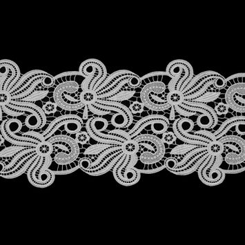 "White Guipure Lace Trim 9""-119144-10"