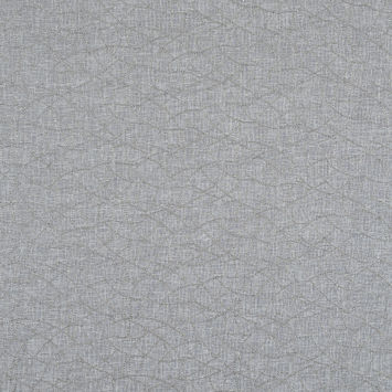 Gray and Metallic Silver Embroidered Drapery Sheer