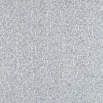 Beige and Metallic Silver Embroidered Drapery Sheer