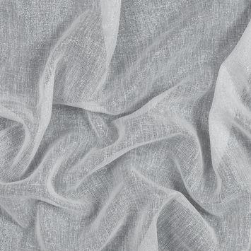 White and Metallic Silver Drapery Sheer