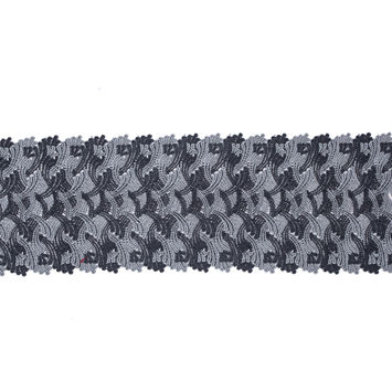 "Pavement Gray Venise Lace Trim 6""-119520-10"