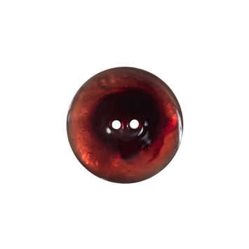 Italian Red 2-Hole Shell Button 32L/20mm-120274-10