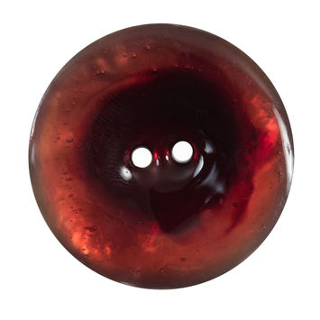 Italian Red 2-Hole Shell Button 54L/34mm-120276-10
