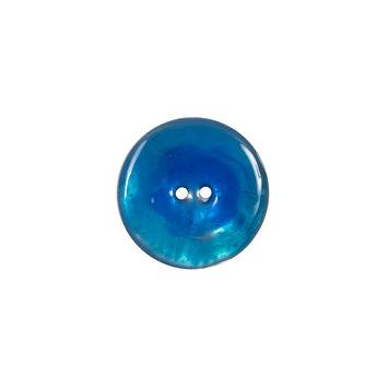 Italian Blue 2-Hole Shell Button 24L/15mm-120277-10