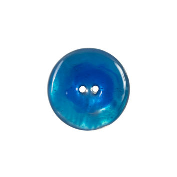 Italian Blue 2-Hole Shell Button 32L/20mm-120278-10