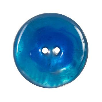 Italian Blue 2-Hole Shell Button 44L/28MM-120279-10