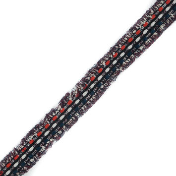 "Italian White, Red and Blue Woven Trim 1.125""-120445-10"