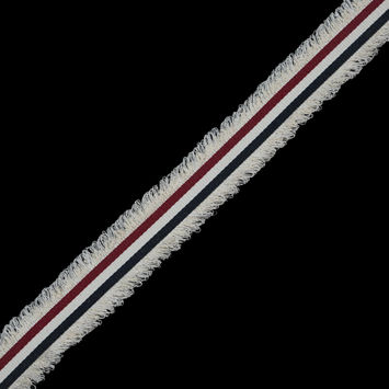 "Italian Red, White and Blue Woven Trim 1.25""-120450-10"