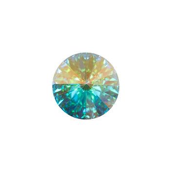 Swarovski Iridescent Crystal Shank Back Button 24L/15mm-121227-10