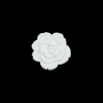Italian White Flower Shank Back Button 24L/15mm-121628-10