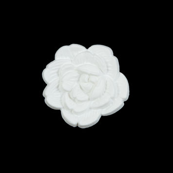 Italian White Flower Shank Back Button 36L/23mm-121629-10