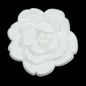 Italian White Flower Shank Back Button 54L/34mm-121630-10