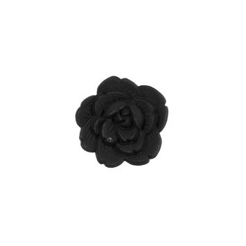Italian Black Flower Shank Back Button 24L/15mm-121634-10