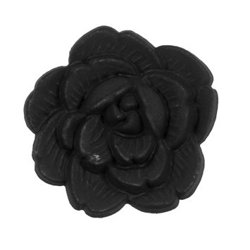 Italian Black Flower Shank Back Button 54L/34mm-121636-10