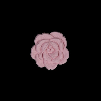 Italian Pink Flower Shank Back Button 24L/15mm-121637-10