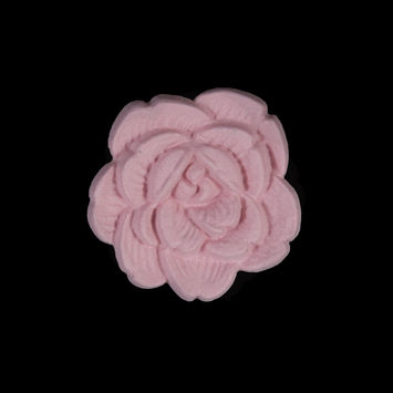 Italian Pink Flower Shank Back Button 36L/23mm-121638-10