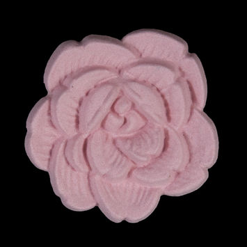 Italian Pink Flower Shank Back Button 54L/34mm-121639-10