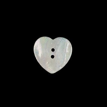 Italian Iridescent Heart-Shaped Shell Button 24L/15mm-121714-10