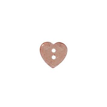 Italian Pink Heart-Shaped Shell Button 18L/11.5mm-121717-10