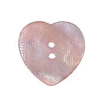 Italian Pink Heart-Shaped Shell Button 40L/25.5mm-121720-10