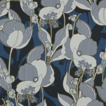 Mood Exclusive Fleurs en Bleu Cotton Poplin