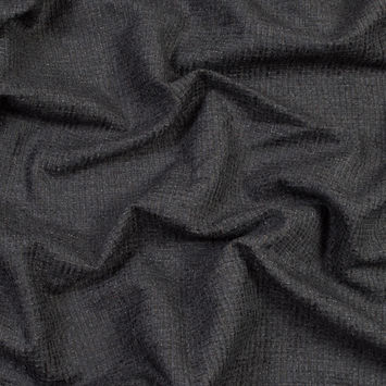 Onyx Checkered Polyester Chenille