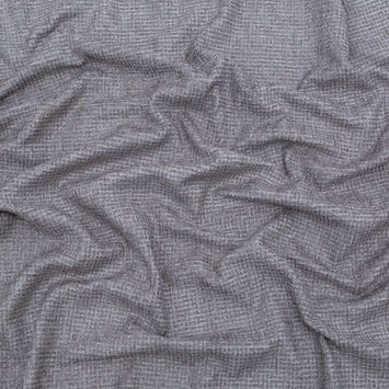 Silver Checkered Polyester Chenille-122548-10