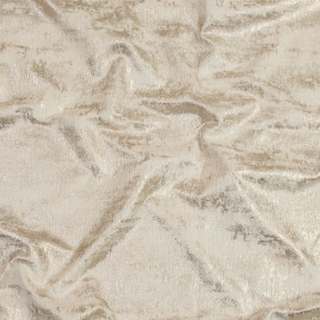 Beige Polyester Chenille with Metallic Gold Foil