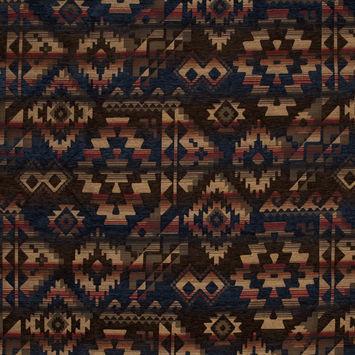 Apache Midnight Geometric Polyester Chenille