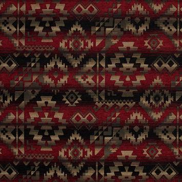 Apache Fire Geometric Polyester Chenille