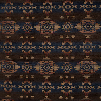 Navajo Midnight Geometric Polyester Chenille