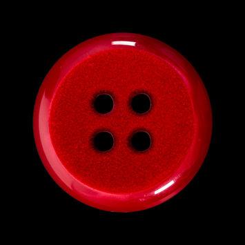 Italian Red 4-Hole Velvet-Faced Plastic Button 44L/28mm-123308-10