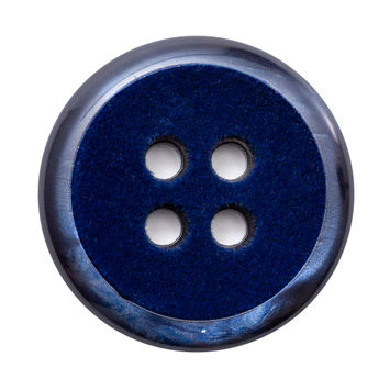Italian Navy 4-Hole Velvet-Faced Plastic Button 54L/34mm-123319-10