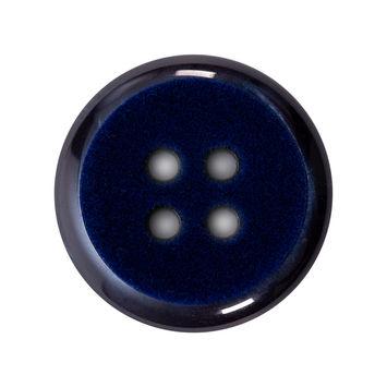 Italian Navy 4-Hole Velvet-Faced Plastic Button 44L/28mm-123320-10