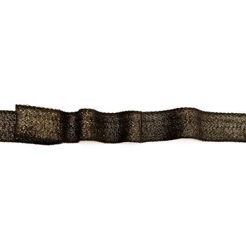 "Italian Black and Metallic Gold Twill Tape 1""-123356-10"
