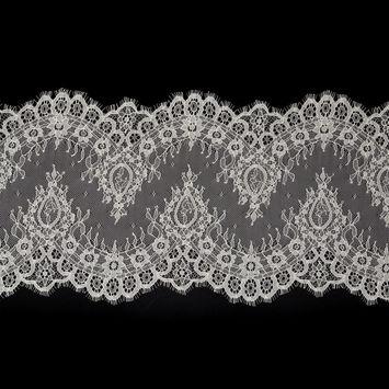 """Fine Ivory Lace with Scalloped Eyelash Edges 10""""-123408-10"""
