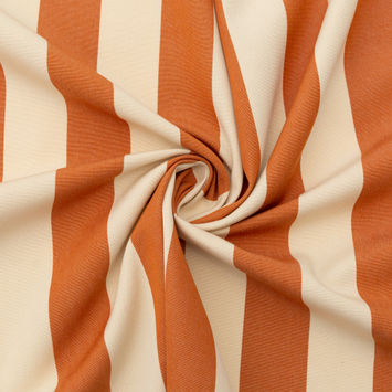 Rust Awning Striped Polyester Woven-124591-10