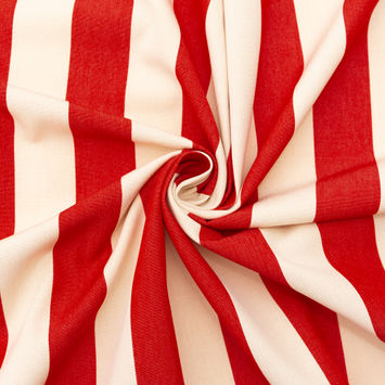 Red Awning Striped Polyester Woven-124592-10