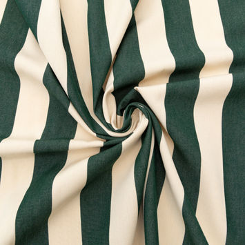 Hunter Green Awning Striped Polyester Woven-124593-10