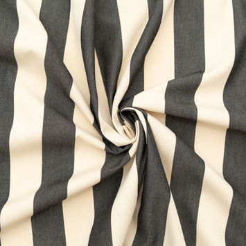 Black Awning Striped Polyester Woven-124594-10
