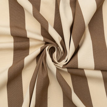 Brown Awning Striped Polyester Woven-124595-10