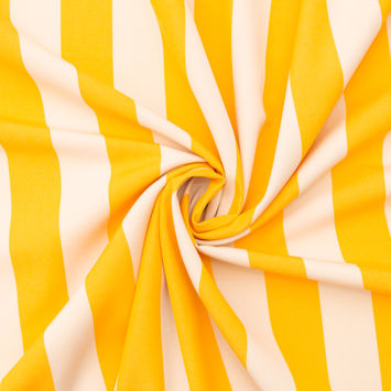 Yellow Awning Striped Polyester Woven-124596-10