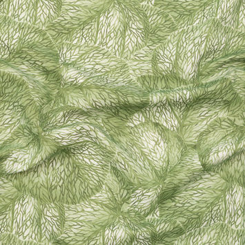 Apple Tropical Leaves Printed Woven-124615-10