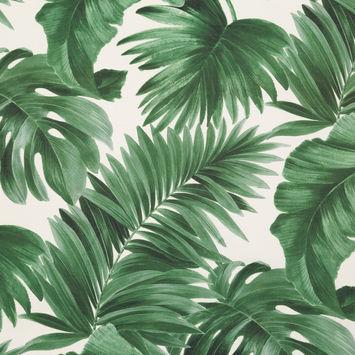 Dark Green Tropical Leaves Printed Woven-124616-10